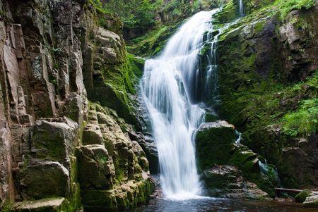 waterfall Kamienczyk in Karkonosze in Poland