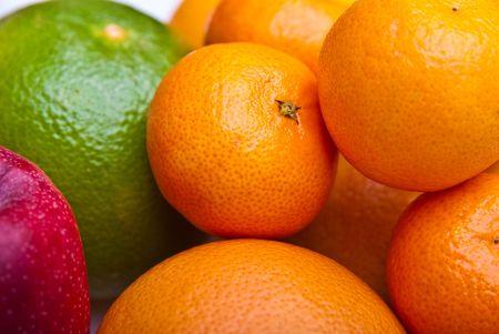 fruits orange apple kiwi kaki pear grapefruit photo