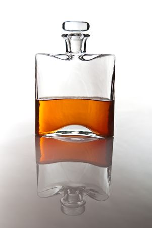 single carafe of scottish whisky or bourbon photo