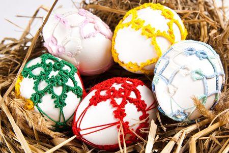 easter eggs in nest Stock Photo - 6709548