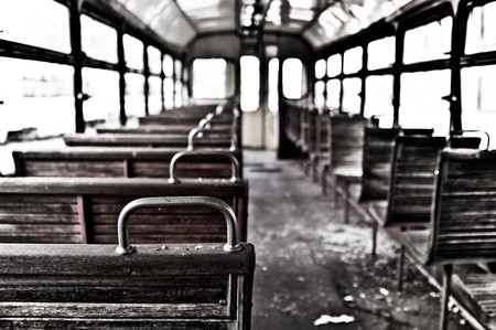 chairs in vintage train Stock Photo - 7442876