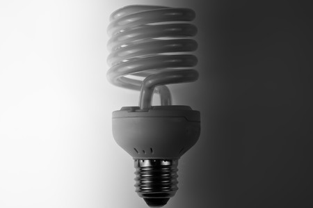 risparmio energetico: lampadina a risparmio energetico Archivio Fotografico