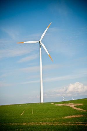 wind turbine farm Stock Photo - 7929898