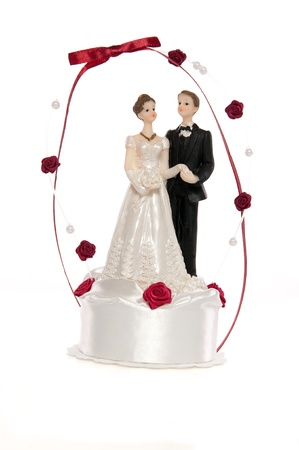 figurine of the just married couple photo