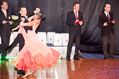 SZCZECIN, POLAND-MARCH 12- Competitors dancing slow waltz at the Polish Championship in the ballroom dance   Stock Photo - 9025315