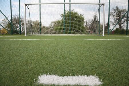 penalty area on football court photo