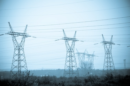 insulators: Pylon and transmission power lines