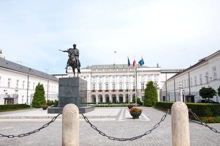 presidential: Presidential palace in Warsaw, Poland