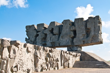 martyrdom: Monument to the Fight of both the Martyrdom of Polish and Other Nations Stock Photo