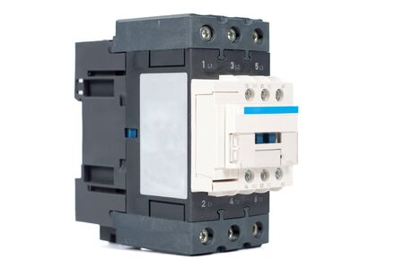3 phase contactor isolated on white background
