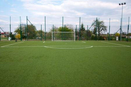penalty area on football court