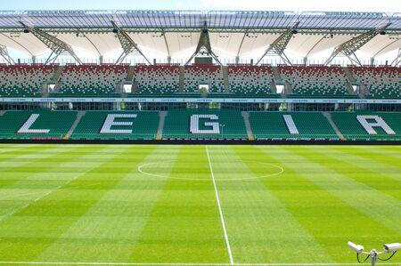 WARSAW, POLAND - May 25, 2012: Legia Warszawa empty football stadium  Editorial