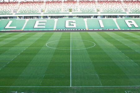 warszawa: WARSAW, POLAND - May 25, 2012: Legia Warszawa empty football stadium  Editorial