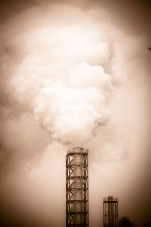 dirty smoke and pollution produced by factory Stock Photo - 17118956