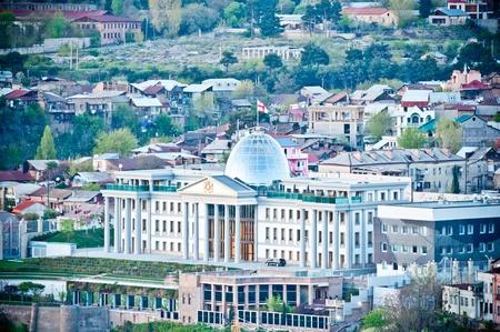 tbilisi: Costruzione del Parlamento a Tbilisi capitale della Georgia
