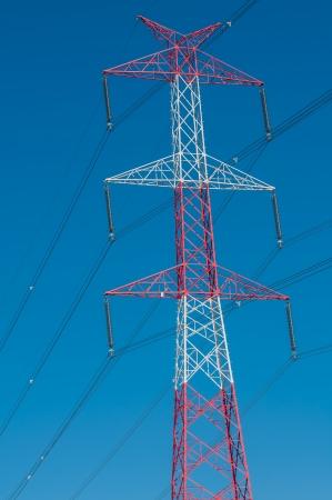 Pylon and transmission power line photo