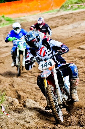motocross riders in championship race