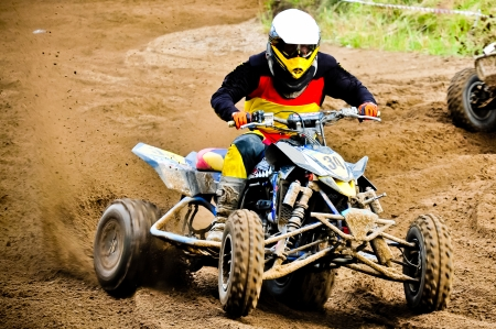 quad rider in championship race