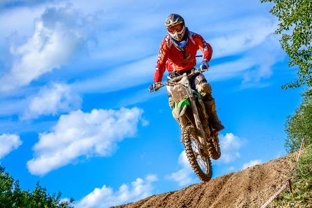 mx: motocross rider on the race