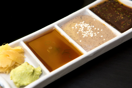 sauces: japanese sauces wasabi and ginger