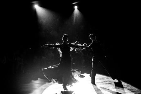 Tänzer tanzen Ballsaal Tanz Standard-Bild