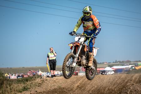 GDANSK, POLAND - SEPTEMBER 10 : rider on Polish Motocross Championship Poland, Gdansk 10 Septemeber 2016 Editorial