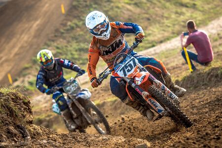 undefined: GDANSK, POLAND - SEPTEMBER 10 : undefined riders on Polish Motocross Championship Poland, Gdansk 10 Septemeber 2016