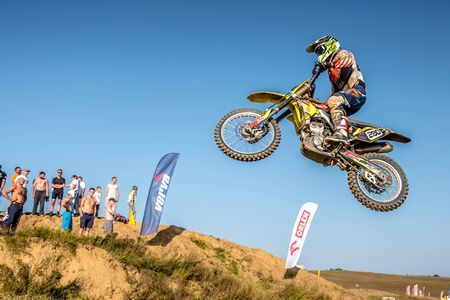 undefined: GDANSK, POLAND - SEPTEMBER 11 : undefined rider on Polish Motocross Championship Poland, Gdansk 11 Septemeber 2016 Editorial