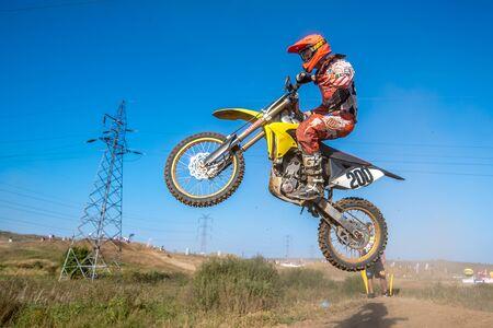 motorcross: GDANSK, POLAND - SEPTEMBER 11 : undefined rider on Polish Motocross Championship Poland, Gdansk 11 Septemeber 2016 Editorial