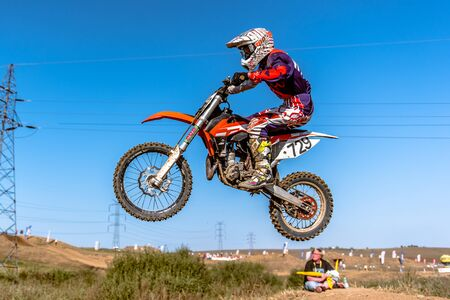 undefined: GDANSK, POLAND - SEPTEMBER 11: undefined rider on Polish Motocross Championship Poland, Gdansk 11 Septemeber 2016 Editorial