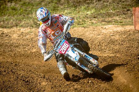 GDANSK, POLAND - SEPTEMBER 11 : undefined rider on Polish Motocross Championship Poland, Gdansk 11 Septemeber 2016 Editorial