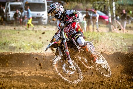 undefined: Undefined rider on Polish The West Zone Motocross Championship Poland, Chojna 25 September 2016
