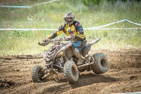 Quad rider on the race