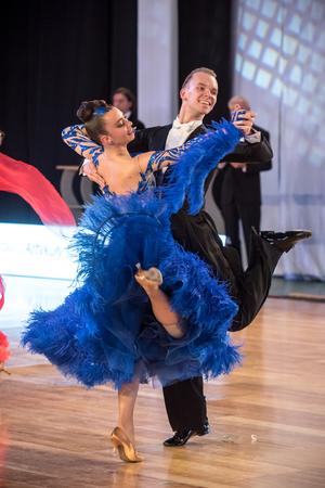 Cracovie, Pologne - 11 décembre 2016 - Wieczysty Dance Competition. Tournoi de danse régional à Cracovie Banque d'images - 85378369