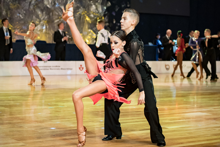 Elblag, Poland - October 13, 2017 - Baltic Cup Dance Competition. International dance tournament in Elblag