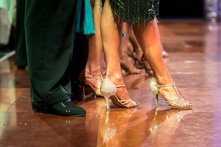 feet pair dancers latino dancing competition