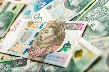 polish paper money or banknotes