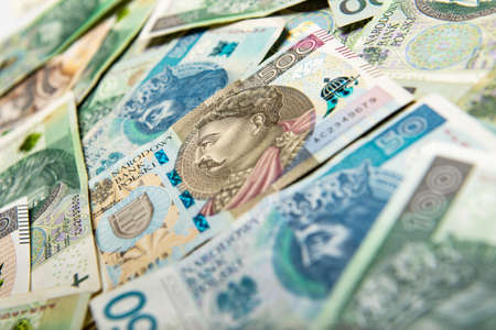 polish paper money or banknotes Zdjęcie Seryjne