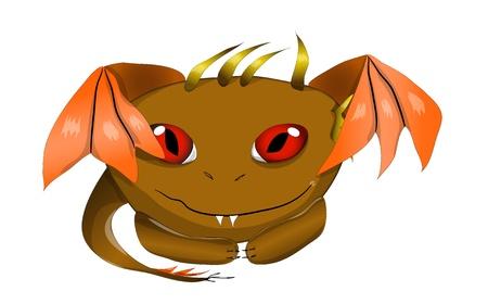wyvern: Cute  Dragon monster. vector illustration eps 10 Illustration