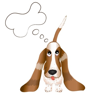 hush hush: the dog Basset Hound vector illustration eps 10