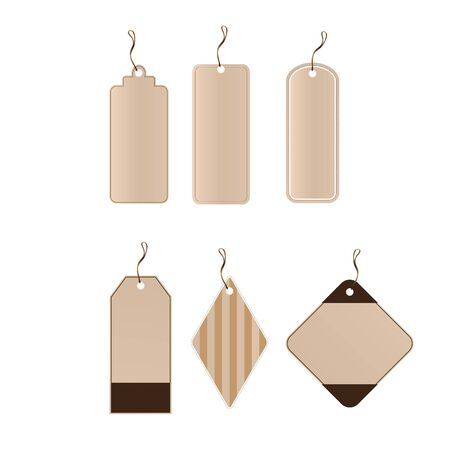 Vector set of 6 tags different shapes  eps8 Vector