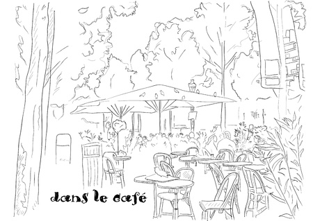ancient rome: Cafe on the Champs-Elysees