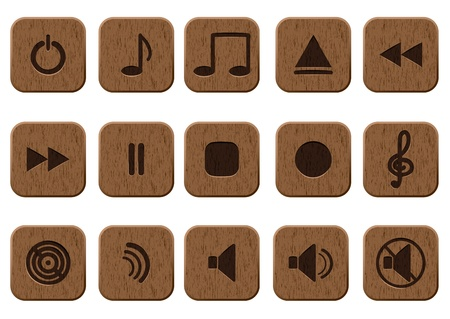 15 music icons set  Vector illustration Vector