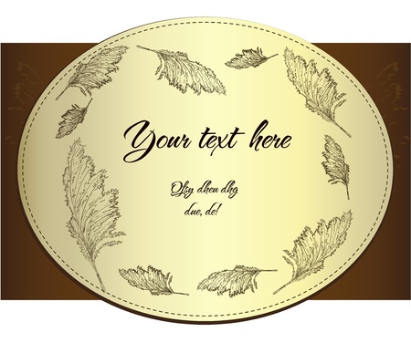 Vintage label with cane Stock Vector - 13578946