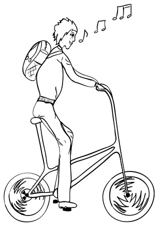 bicycler: Funny, high, singing bicyclist