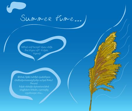 hay field: Blue sky background with cane2  Vector illustration eps8 Illustration