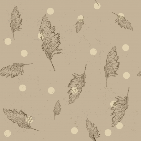 hay field: Vintage seamless texture with cane  Illustration