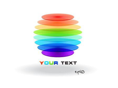 Multicolor abstract logo sphere  Stock Vector - 14040683