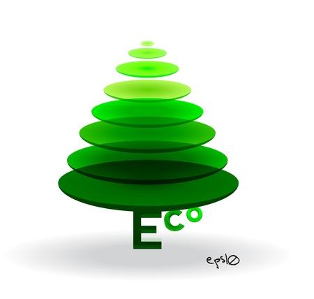Eco logo triangle shape