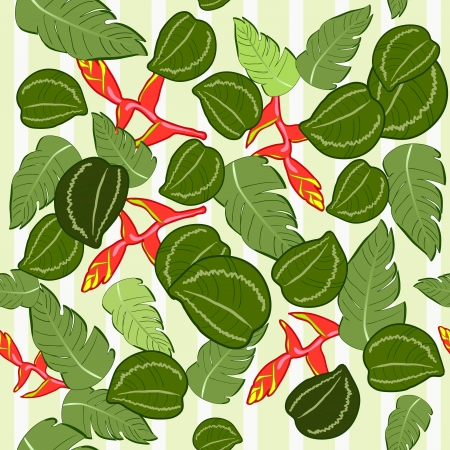 seamless texture of the Malaysian plant illustration  Vector